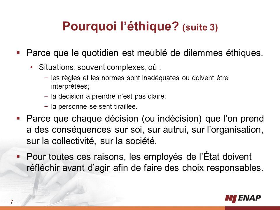 8 2.Les principaux modes de régulation et les principales obligations en matière d'éthique