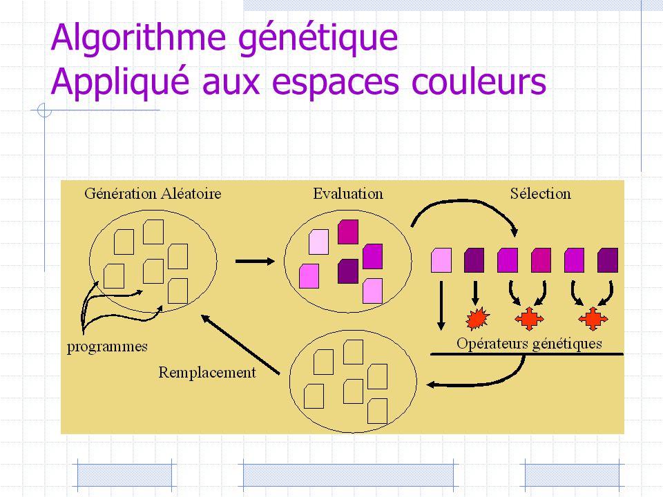 Algorithme génétique Appliqué aux espaces couleurs