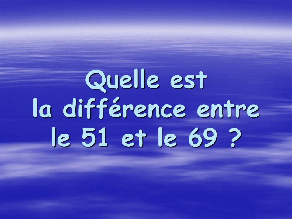 Quelle est la différence entre le 51 et le 69 ?