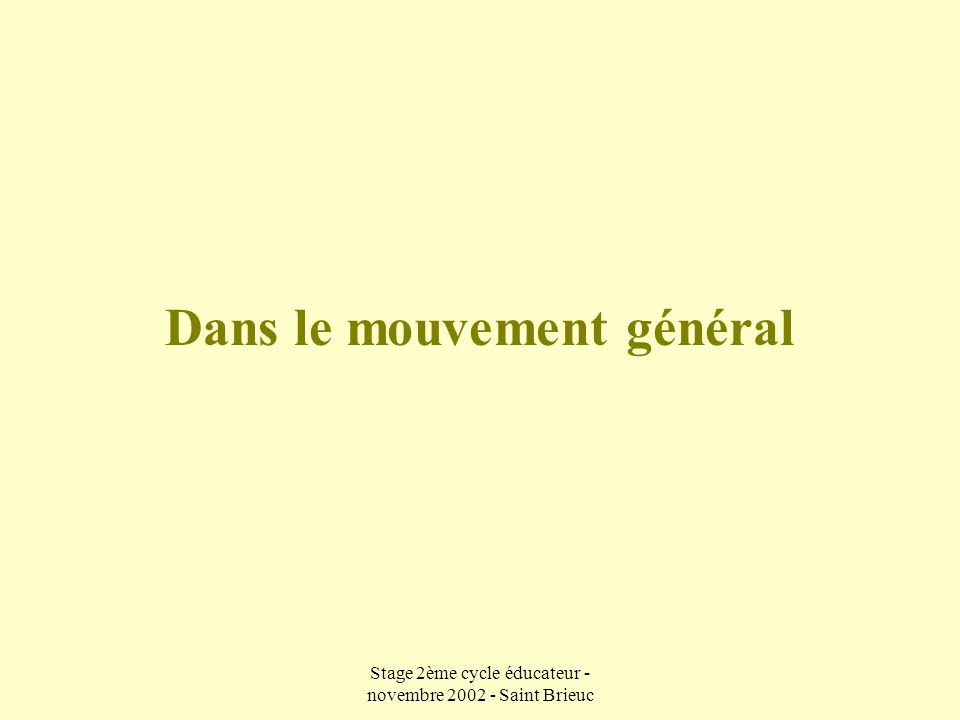 Stage 2ème cycle éducateur - novembre 2002 - Saint Brieuc L'espace (1) En attaque  Identifier les espaces libres latéraux (proches et lointains) et profonds (2) En défense  Etablir l'équilibre numérique