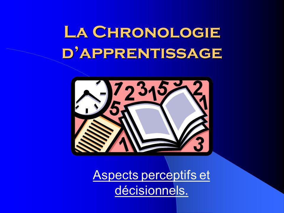 La Chronologie d'apprentissage Aspects perceptifs et décisionnels.