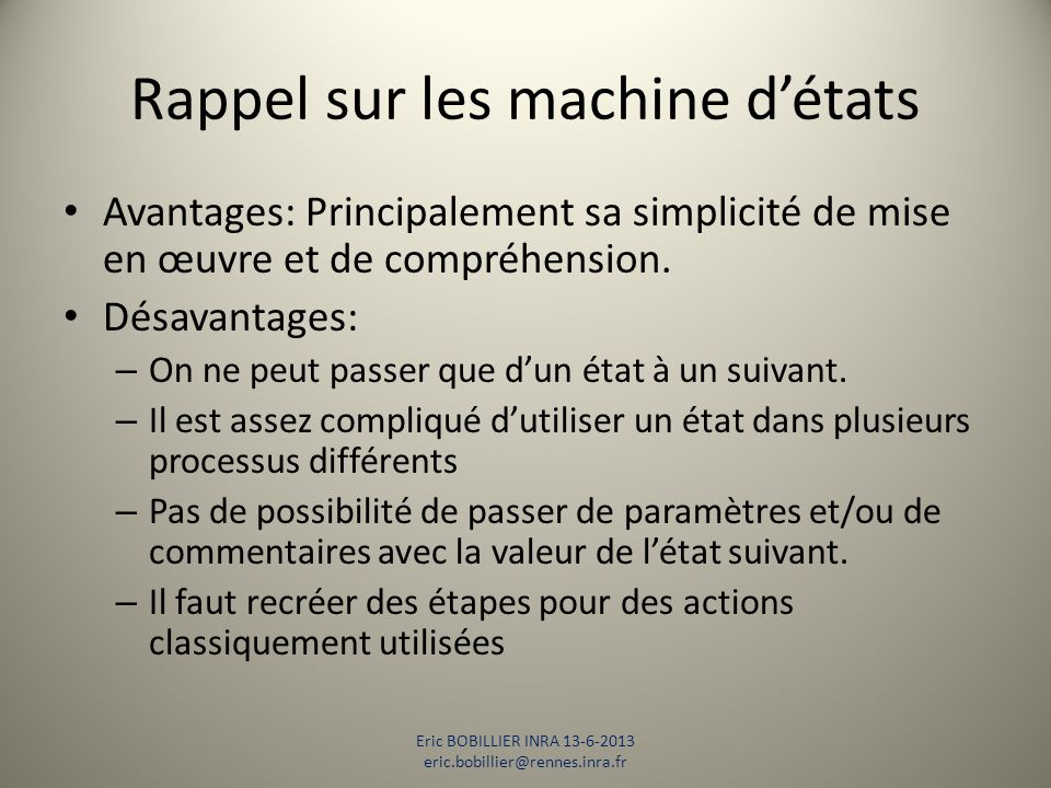 DEMO Eric BOBILLIER INRA 13-6-2013 eric.bobillier@rennes.inra.fr