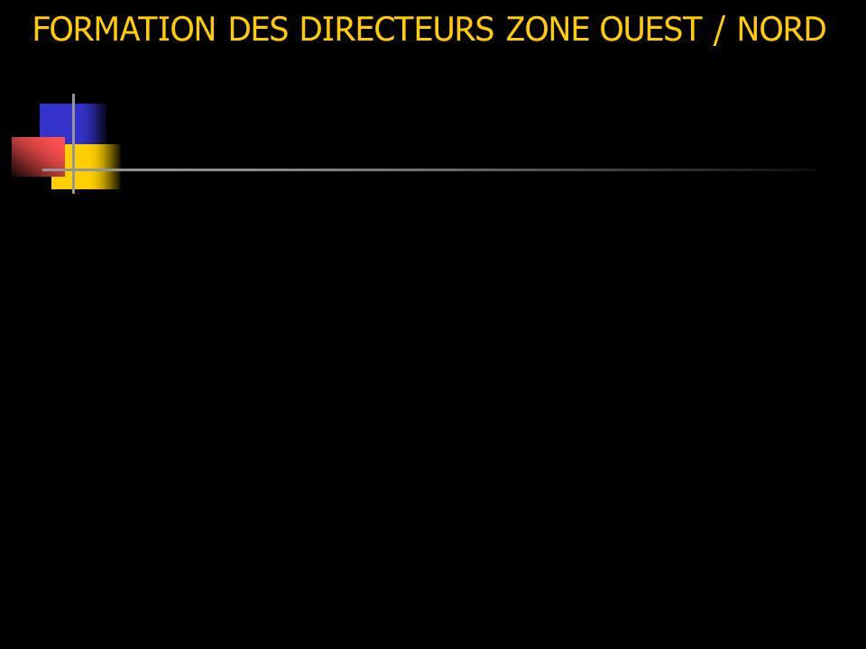 FORMATION DES DIRECTEURS ZONE OUEST / NORD
