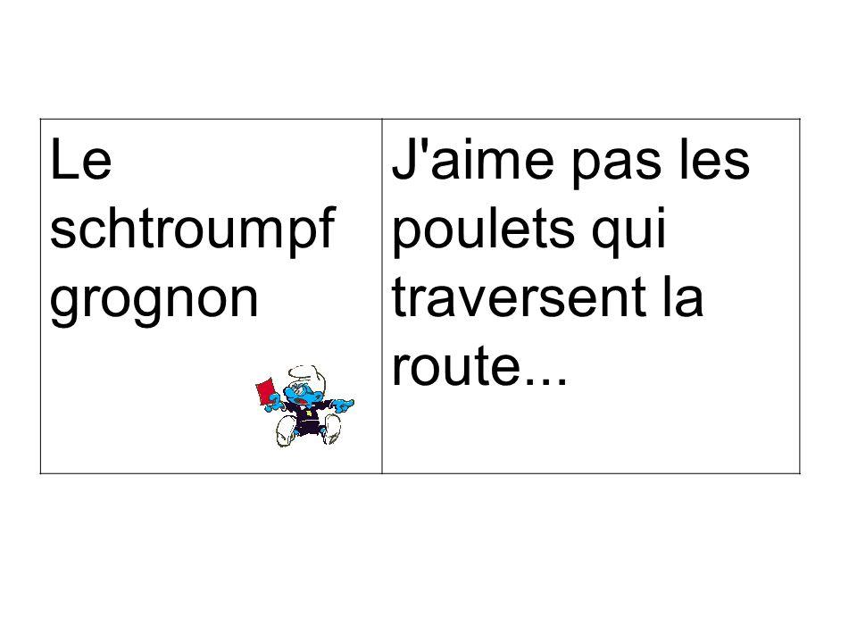 Le PenLe poulet a traversé la route pour venir picorer le pain des Français.