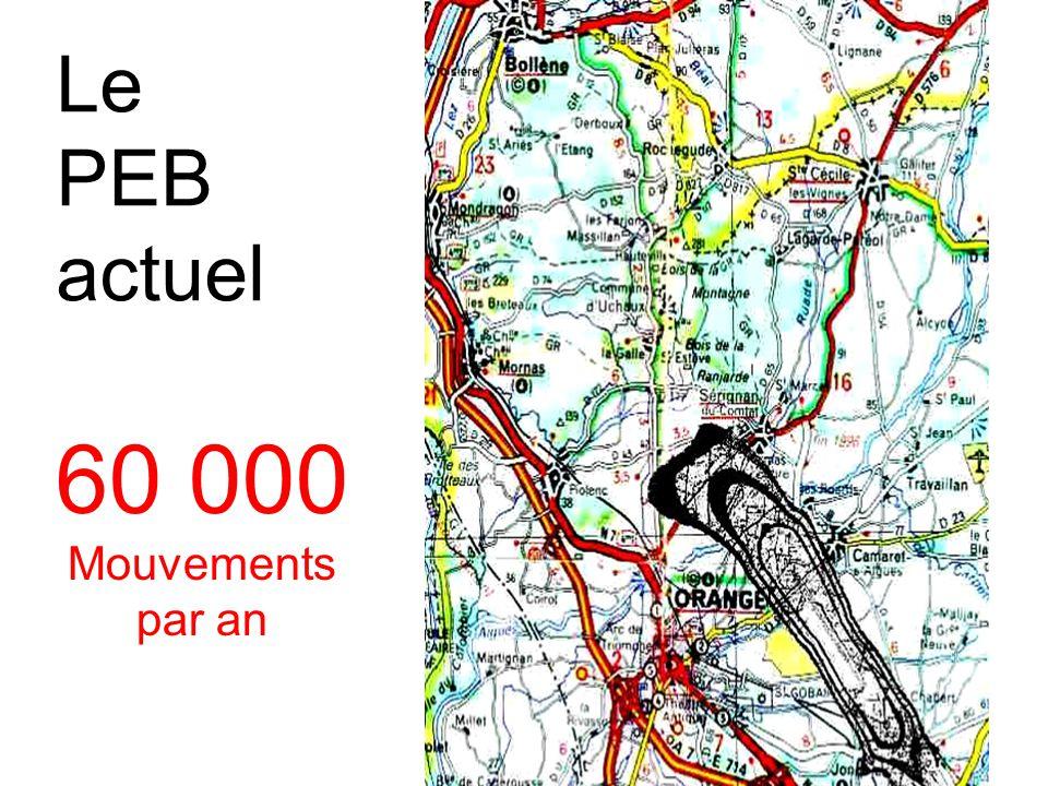60 000 Mouvements par an Le PEB actuel