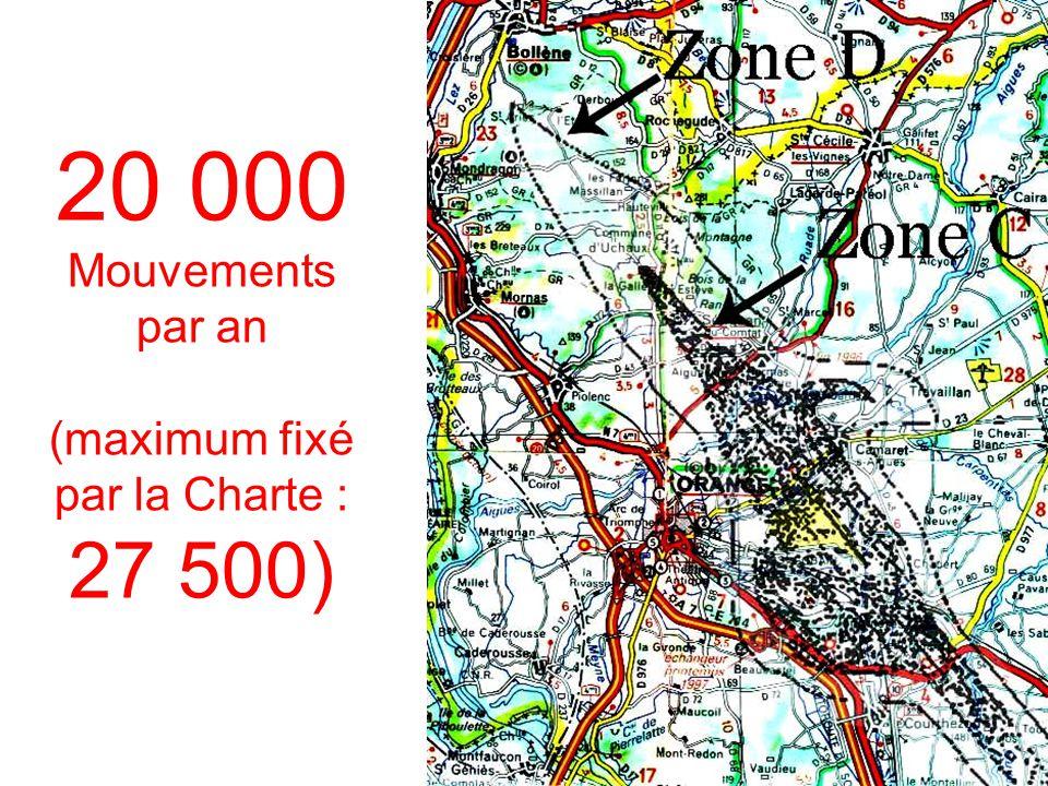 20 000 Mouvements par an (maximum fixé par la Charte : 27 500)