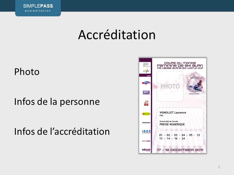 Accréditation Photo Infos de la personne Infos de l'accréditation 5