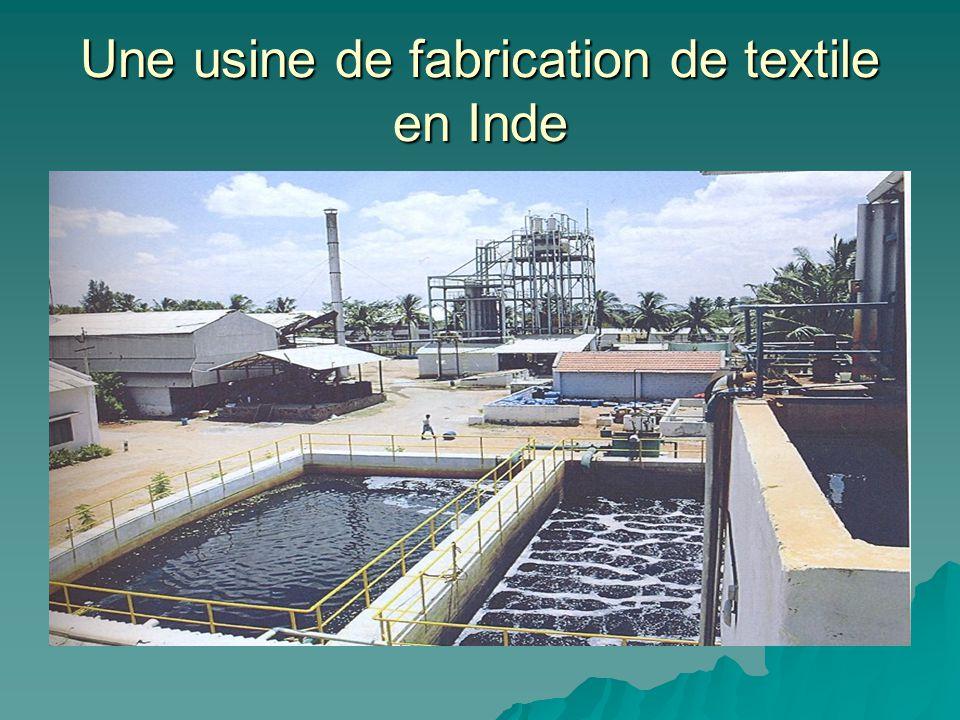 Une usine de fabrication de textile en Inde