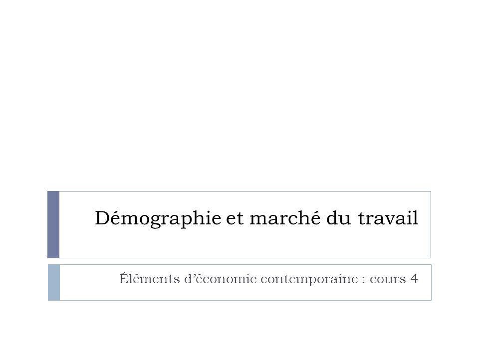 Démographie et marché du travail Éléments d'économie contemporaine : cours 4