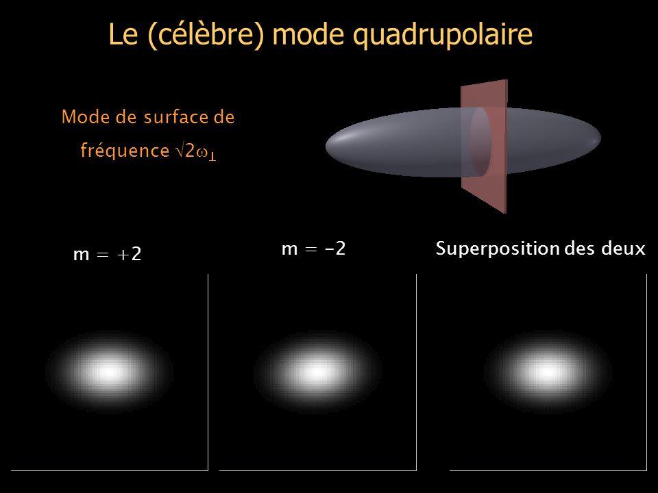 Le nuage thermique ne tourne d'ailleurs sans doute pas… Rotation d'un corps rigide : v =   r (rot v = 2  ) Champ de vitesse d'un vortex : v  1/ r Champ de vitesse d'un gaz classique en rotation: - la cuillère a été coupée depuis plusieurs secondes - l'anisotropie statique tue rapidement la rotation d'un gaz classique - le champ de vitesse du condensat pourrait entrainer l'autre, mais :