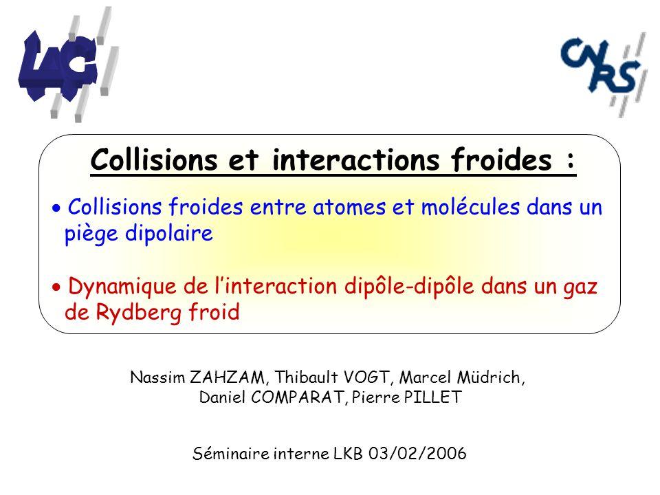 Collisions froides entre atomes et molécules dans un piège dipolaire