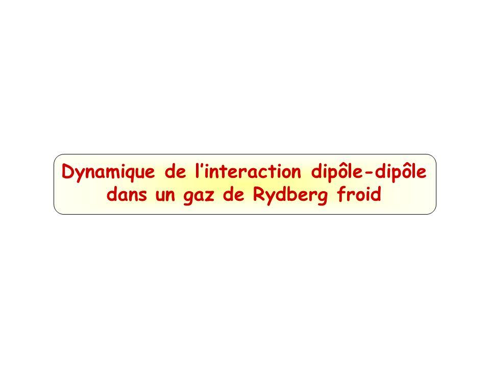 Dynamique de l'interaction dipôle-dipôle dans un gaz de Rydberg froid