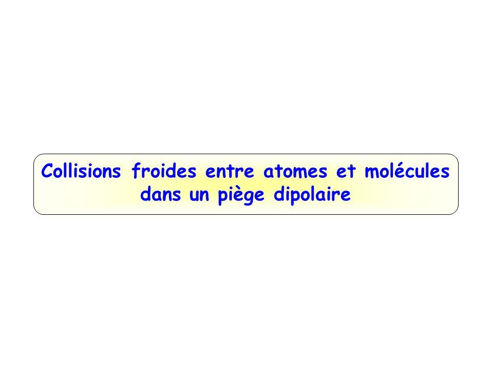 Atomes de Rydberg Atomes avec électron très éloigné (n >20) :  Taille énorme  2 n 2 a 0 ~ 0,1 μm (n=30)  Fortes interactions  Dipôle électrique important  n 2 q e a 0 ~ 1000 D  Champ d'ionisation faible  n -4 ~ 200 V/cm  Facile à détecter  Durée de vie longue  n 3 ~ 20 μs  Temps de cohérence long