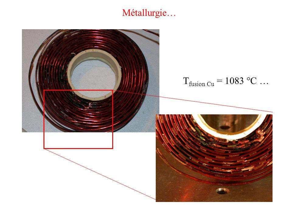 T fusion Cu = 1083 °C … Métallurgie…