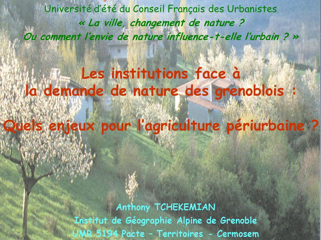Université d'été du Conseil Français des Urbanistes « La ville, changement de nature ? Ou comment l'envie de nature influence-t-elle l'urbain ? » Anth