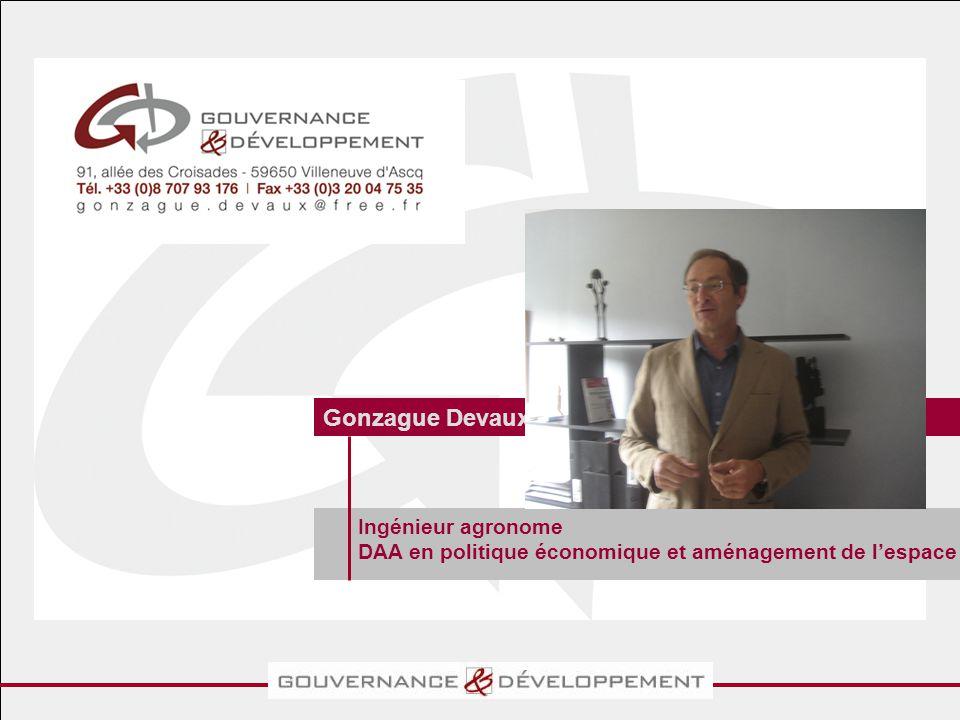 Ingénieur agronome DAA en politique économique et aménagement de l'espace Gonzague Devaux