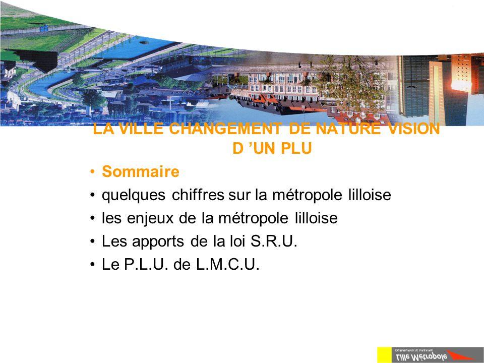 La métropole lilloise Quelques chiffres L'aire urbaine lilloise compte 1 100 000 habitants pour une surface de 875 km².