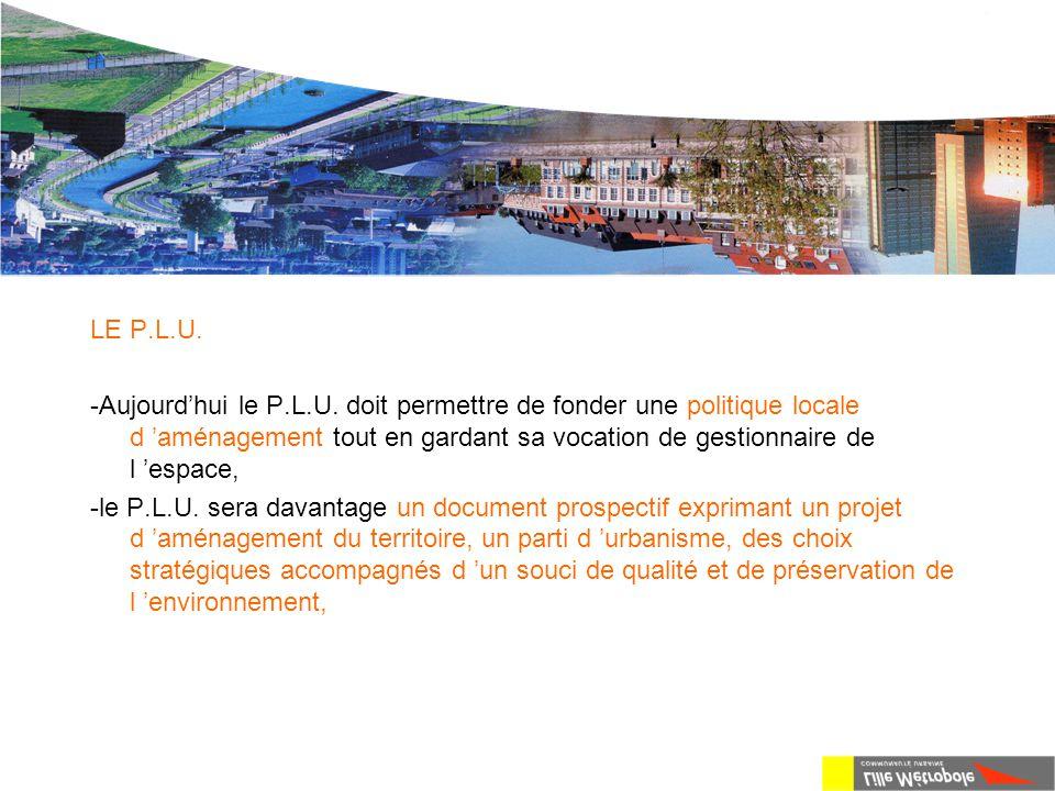 La loi S.R.U. LE P.L.U. -Aujourd'hui le P.L.U. doit permettre de fonder une politique locale d 'aménagement tout en gardant sa vocation de gestionnair