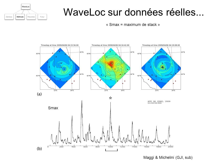 Smax Détection = association = localisation Maggi & Michelini (GJI, sub) Maggi et al.