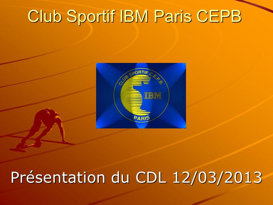 Club Sportif IBM Paris CEPB Présentation du CDL 12/03/2013