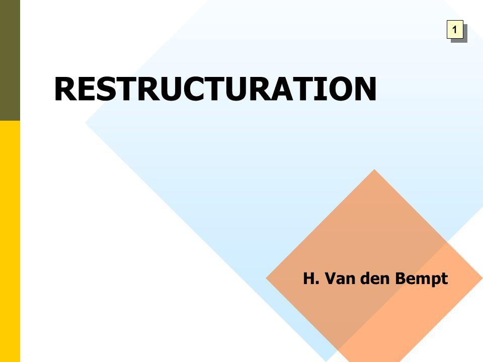 RESTRUCTURATION H. Van den Bempt 1 1