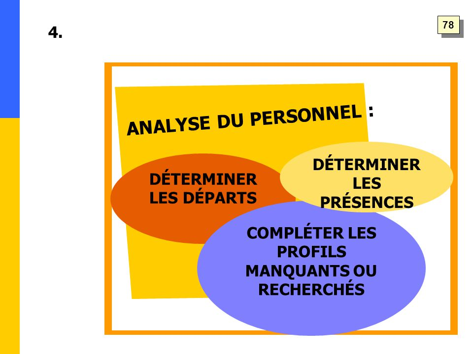 ANALYSE DU PERSONNEL : 4.