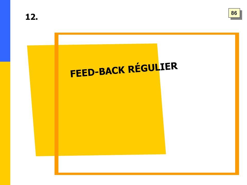 FEED-BACK RÉGULIER 12. 86