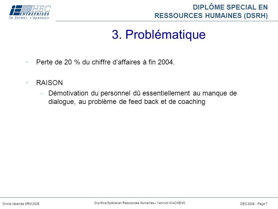 DIPLÔME SPECIAL EN RESSOURCES HUMAINES (DSRH) Droits réservés SRM 2005 Diplôme Spécial en Ressources Humaines – Yannick WACKENS DEC 2006 - Page 7 Pert