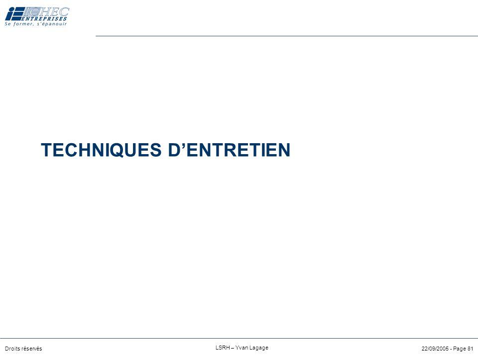 Droits réservés LSRH – Yvan Lagage 22/09/2005 - Page 80 Annexes
