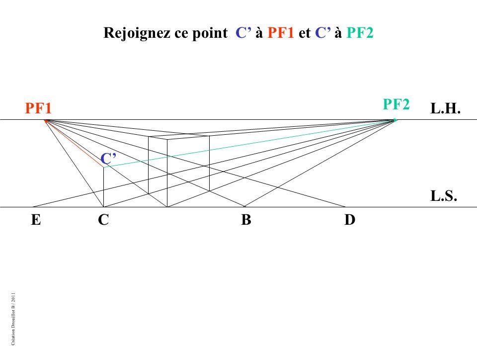 Création Drouillot B / 2011 Rejoignez ce point C' à PF1 et C' à PF2 L.H. L.S. PF1 PF2 BCDE C'