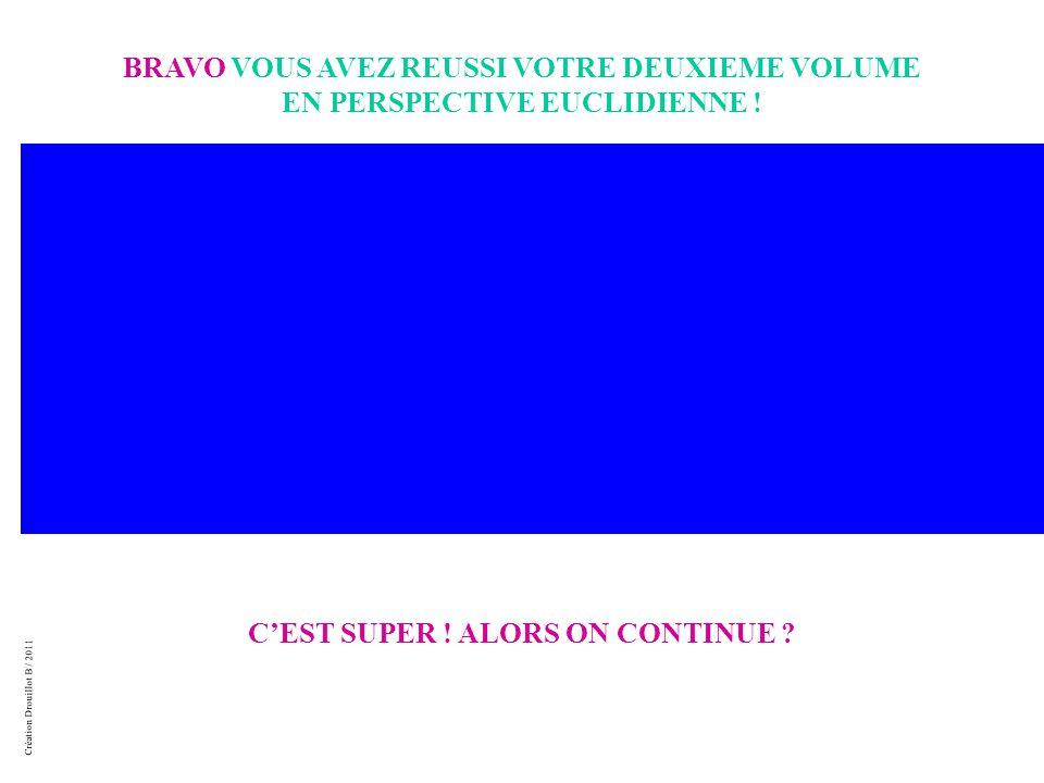 Création Drouillot B / 2011 BRAVO VOUS AVEZ REUSSI VOTRE DEUXIEME VOLUME EN PERSPECTIVE EUCLIDIENNE .