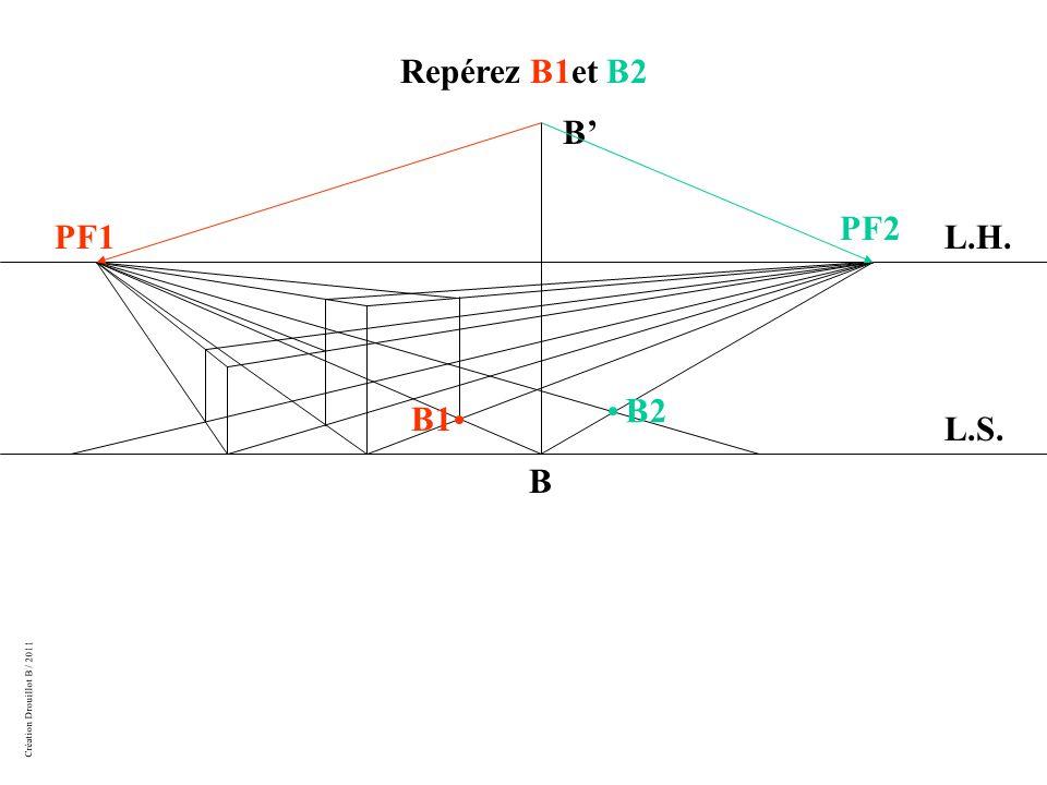 Création Drouillot B / 2011 L.H. L.S. PF1 PF2 B Repérez B1et B2 B' B2 B1