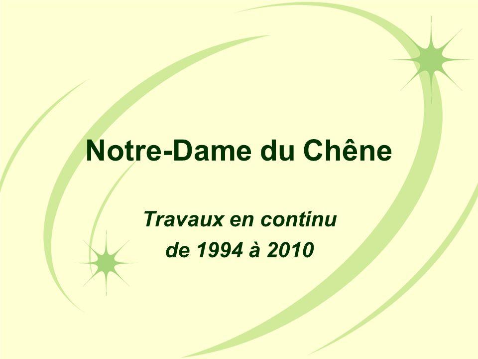 Notre-Dame du Chêne Travaux en continu de 1994 à 2010