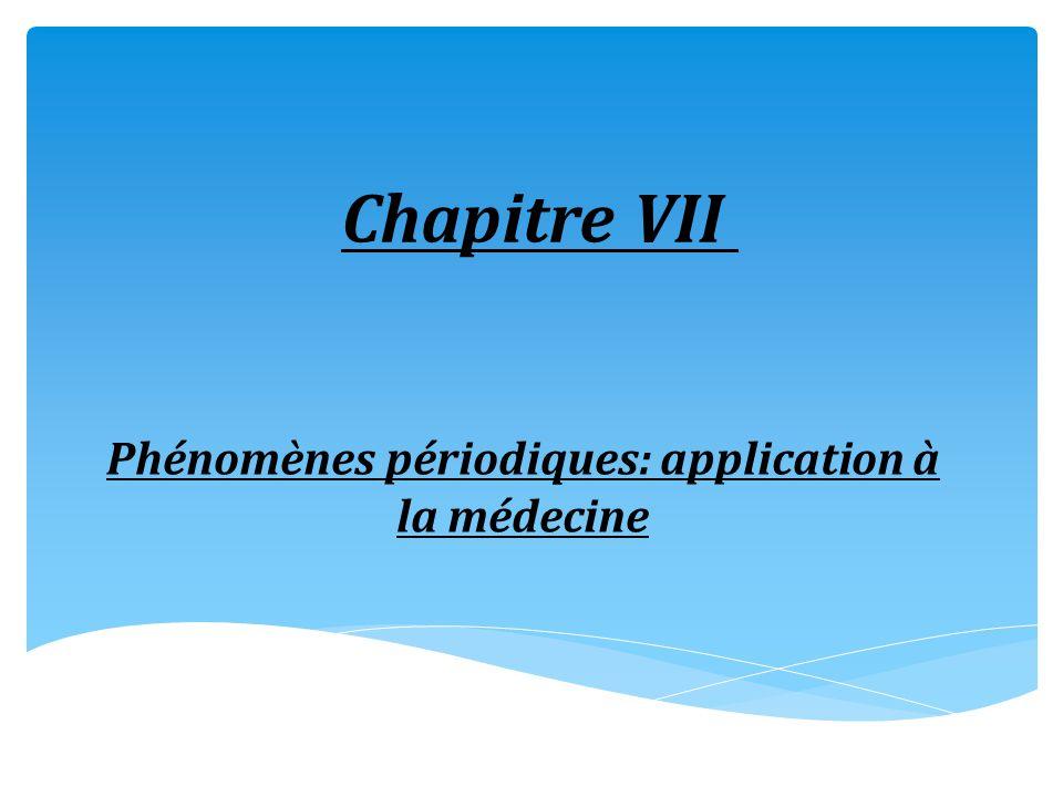 Chapitre VII Phénomènes périodiques: application à la médecine