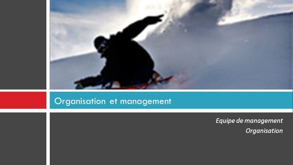 Equipe de management Organisation Organisation et management