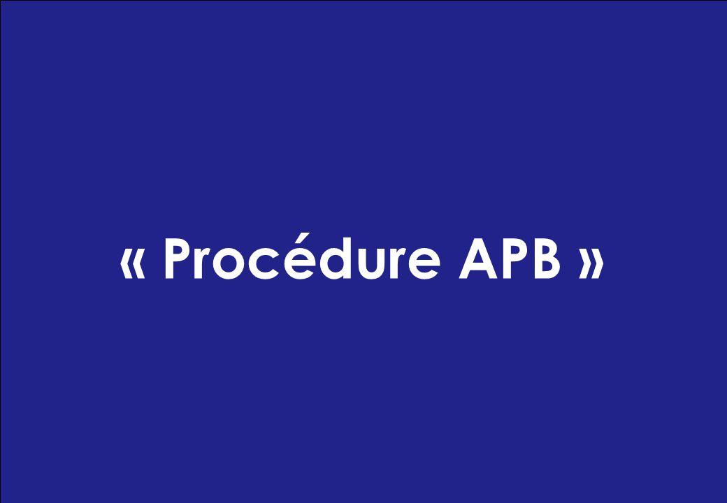 « Procédure APB »