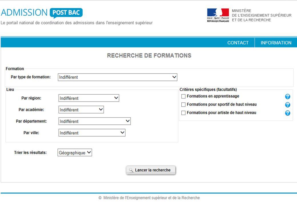 DEUX SITES INTERNET GENERALISTES www.admission-postbac.fr www.onisep.fr Procédure d'inscription détaillée dans le diaporama spécifique « APB 2014 »