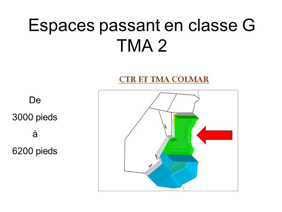 Espaces passant en classe G TMA 2 De 3000 pieds à 6200 pieds