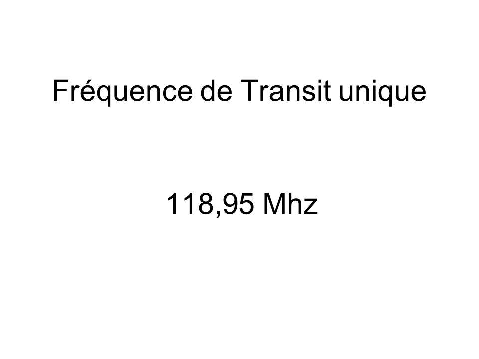 Fréquence de Transit unique 118,95 Mhz