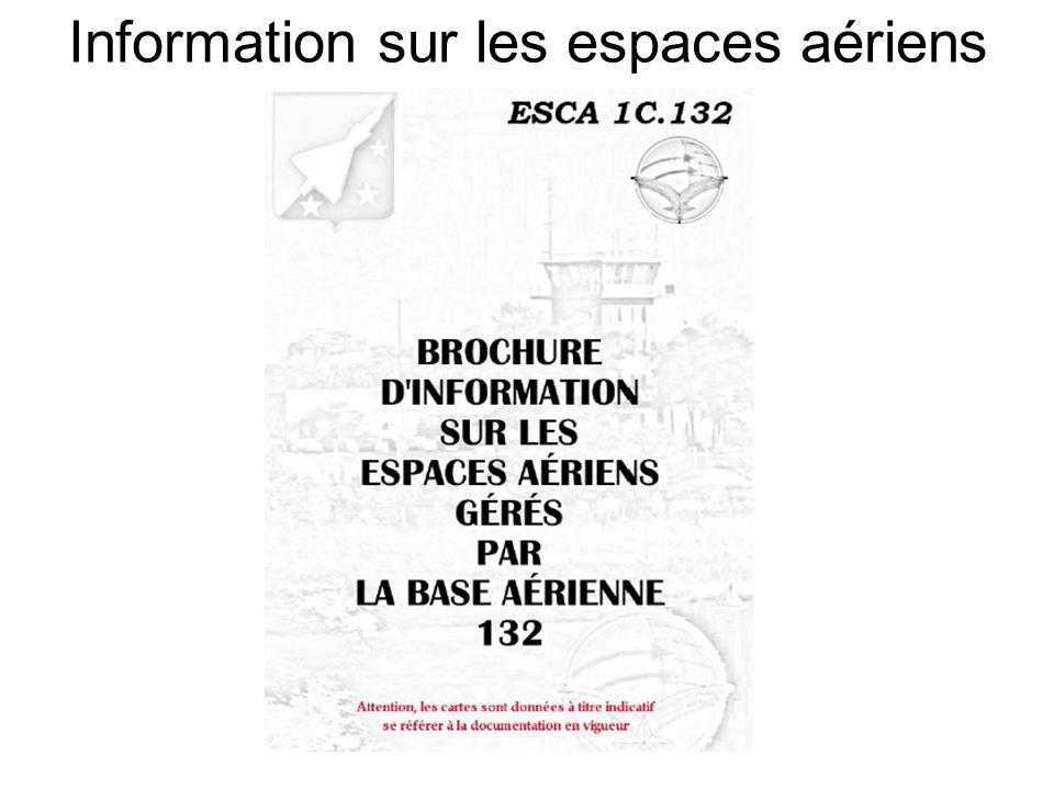 Information sur les espaces aériens