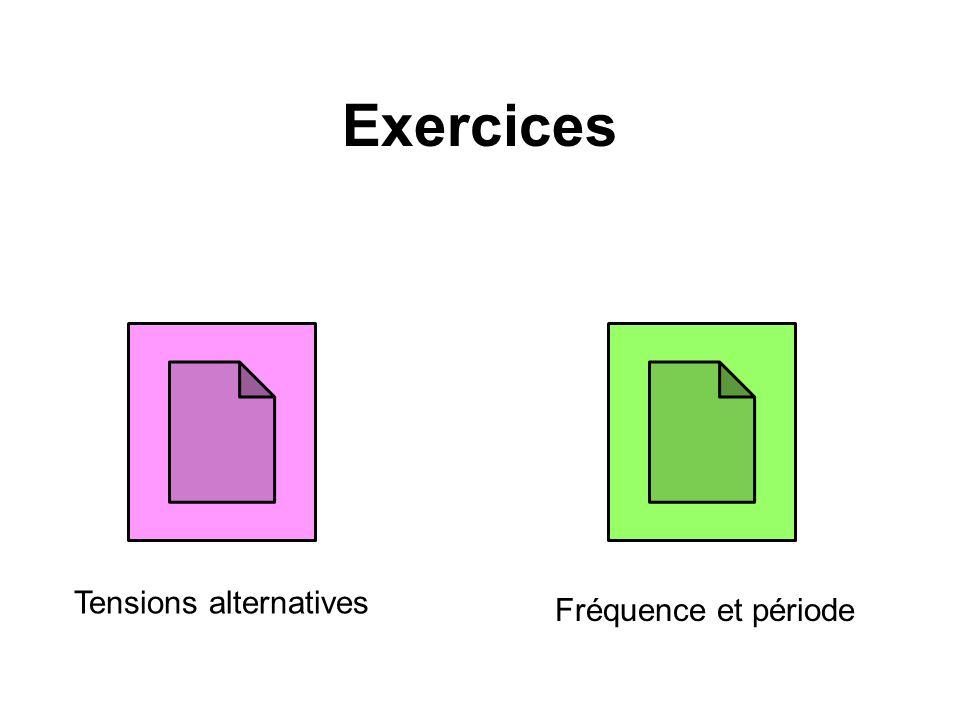 Exercices Tensions alternatives Fréquence et période