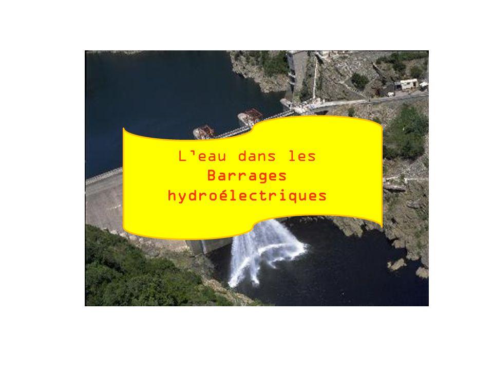 L'eau dans les Barrages hydroélectriques