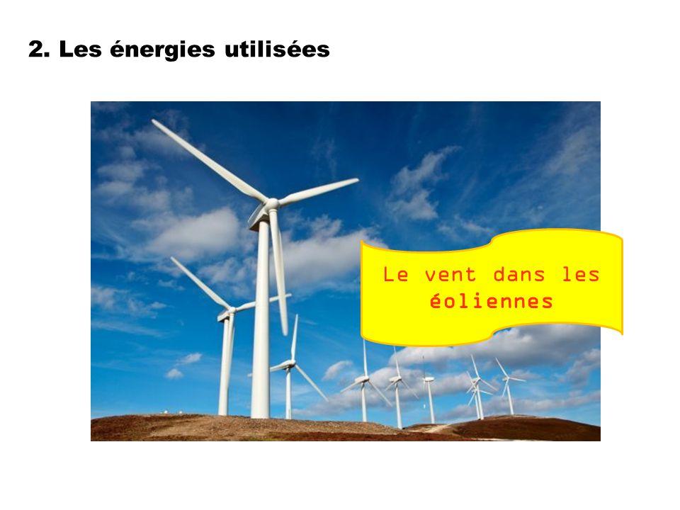 2. Les énergies utilisées Le vent dans les éoliennes