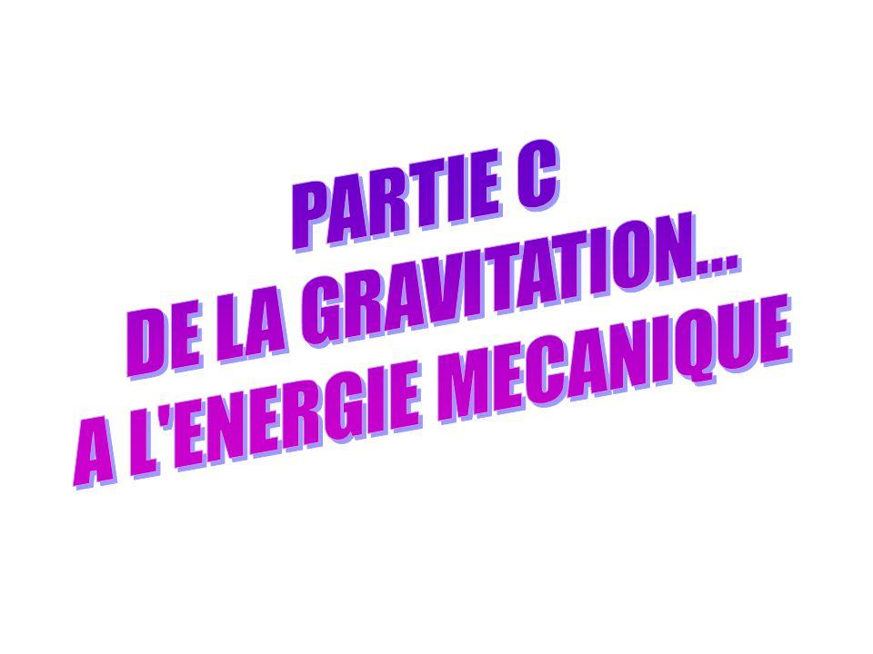 PARTIE C : DE LA GRAVITATION… A L'ENERGIE MECANIQUE