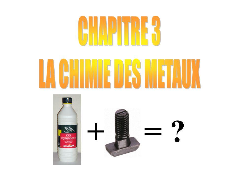 CHAPITRE 3 : LA CHIMIE DES MATERIAUX += ?