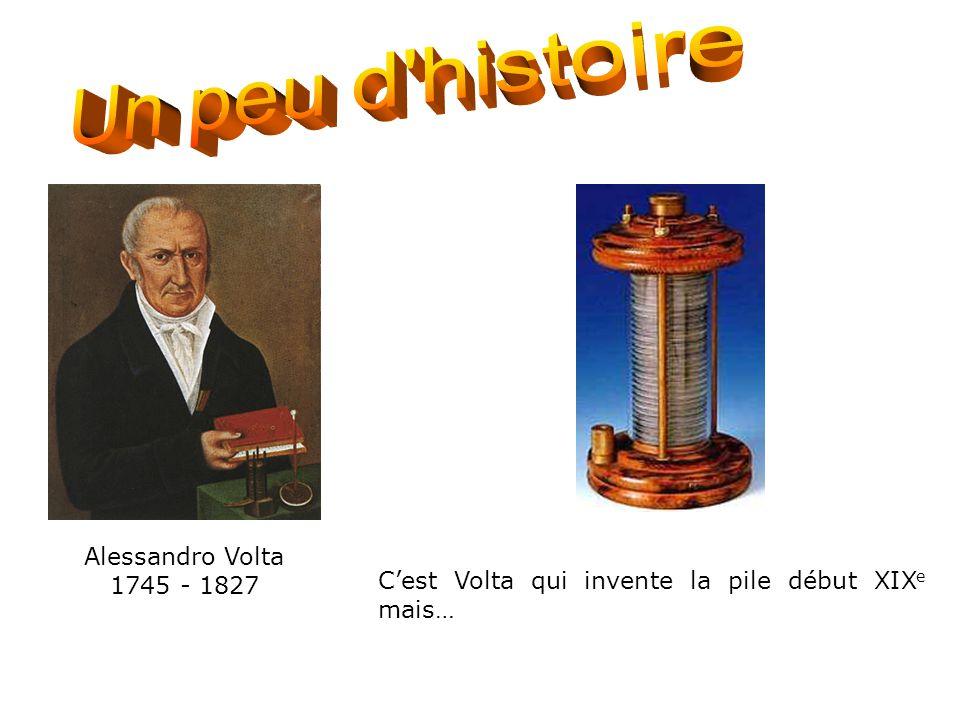 Histoire de la pile 1 Alessandro Volta 1745 - 1827 C'est Volta qui invente la pile début XIX e mais…