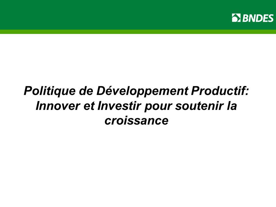 Politique de Développement Productif: Innover et Investir pour soutenir la croissance