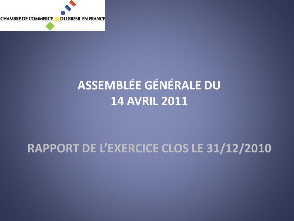 ASSEMBLÉE GÉNÉRALE DU 14 AVRIL 2011 RAPPORT DE L'EXERCICE CLOS LE 31/12/2010