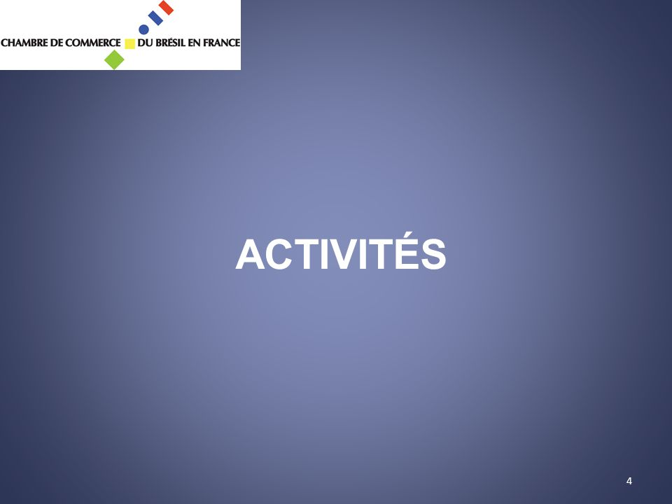 4 ACTIVITÉS