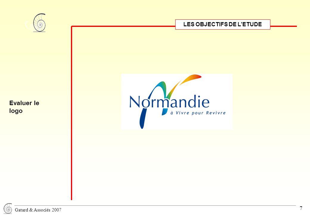 Gatard & Associés 2007 7 LES OBJECTIFS DE L'ETUDE Evaluer le logo